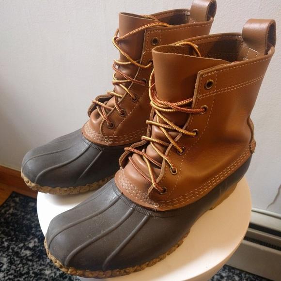 0f77d09dc86 LL Bean Duck Boots Men's Tan/Brown sz. 8